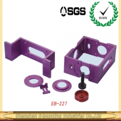 cnc machining parts in purpul color anodizing