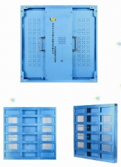 P3 aluminum LED display cabinet with aluminum profile and sheet parts design