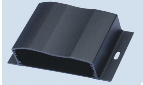 Wall mounted aluminum extrusion enclosures for LED controller system